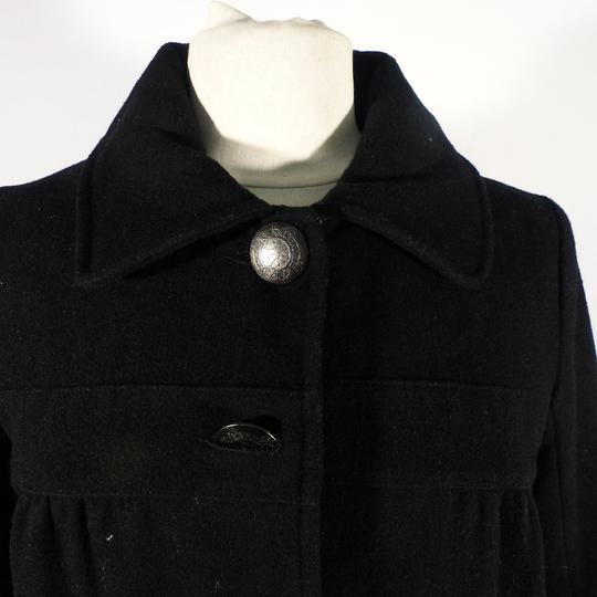 Manteau Kaporal pour femme en laine, caban noir ,KAPORAL