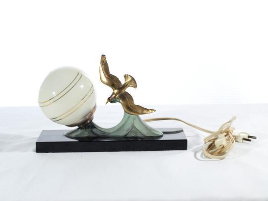 Lampe Chevet Déco 50's Art « De Mouette DoréeStyle »Années Vintage Au Décor 354LARj