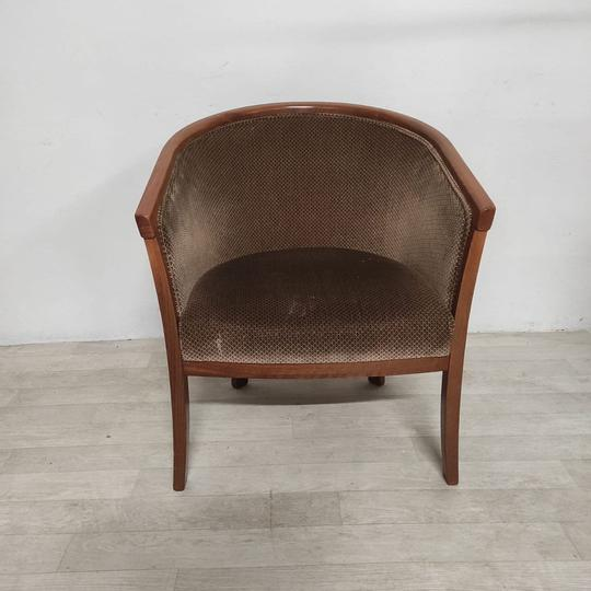 Fauteuil marron vintage - Photo 0