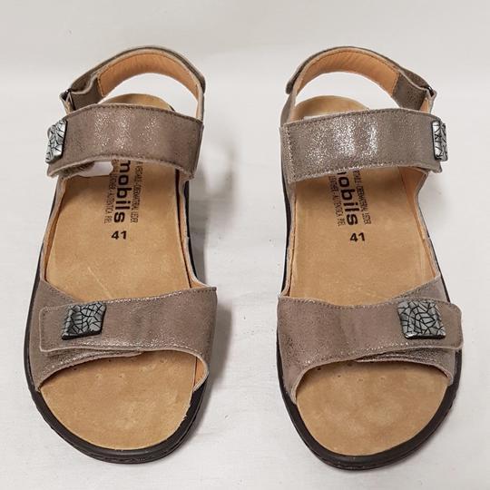 9034f361eddaa2 Maryse - Photo; Chaussure sandale Mephisto Air Relax en cuir beige doré P  41 Mod.