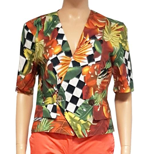 Top style veste blazer femme vintage motif tropical T.1 - Photo 0