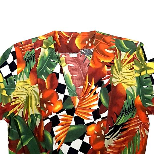 Top style veste blazer femme vintage motif tropical T.1 - Photo 1
