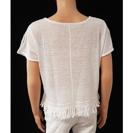 8a0300c0006dd0 Top Tee Shirt Corsage Mango T S broderies sur voile & franges Esprit  Ethnique Bohème
