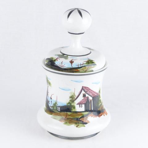 verre avec couvercle en français style sugar Chic Antique