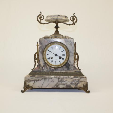 Pendule en marbre 19ème - label emmaus