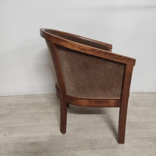 Fauteuil marron vintage - Photo 3