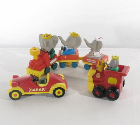 Characters Deux Petits Et BabarUne Co Figurines Voiture De Tmamp; Lot VintageLansay Trains AR5Lj4
