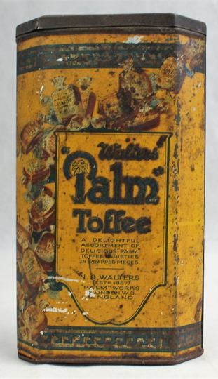 Boite En Tôle - Palm Toffee (Walters, Angleterre, Vers 1920). - Photo 1