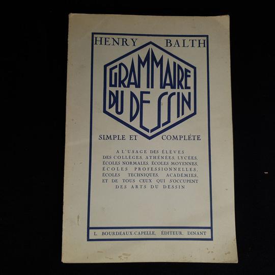 Livre Grammaire Du Dessin Simple Et Complete De 1928