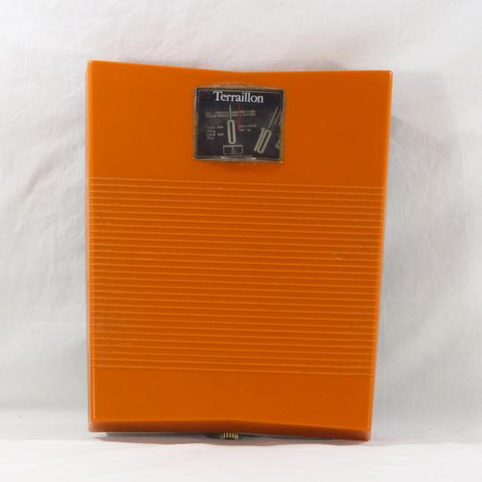 pèse personne vintage Terraillon en plastique orange