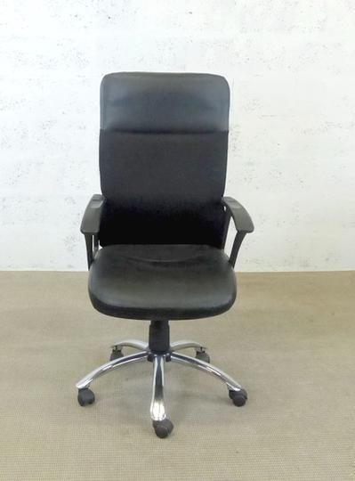 Noir Igo 50x56x120cm Chaise de bureau métal en bf6yg7