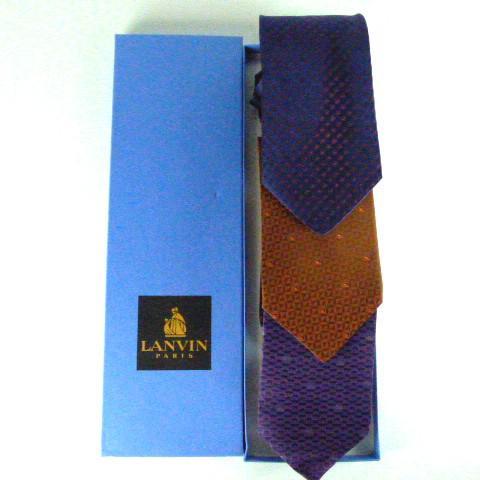 Lot de trois cravate LANVIN PARIS sur Label Emmaüs, boutique en ... 3ebb20387d3