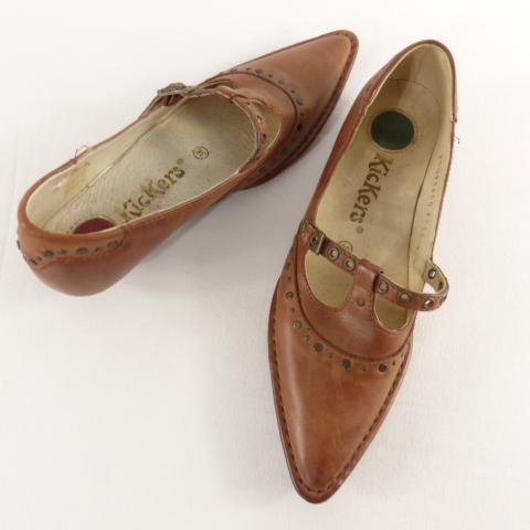 Chaussure femme KIckers cuir marron pointure 36