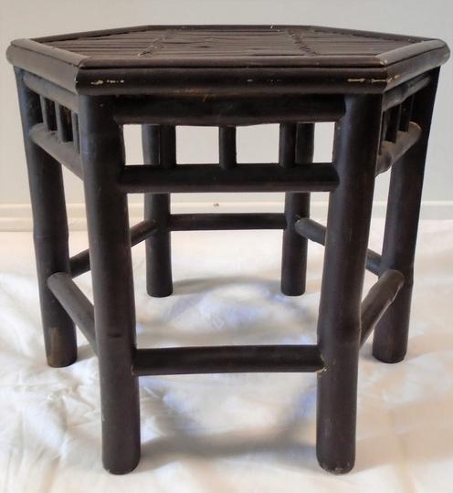 Table basse de jardin ou salon en bambou hauteur 42 cm