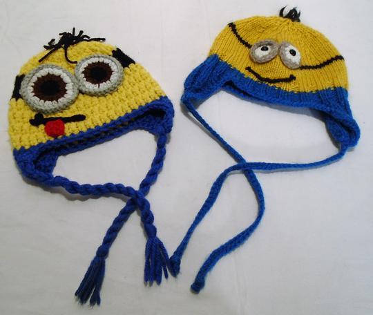 8d69b35d8ab4 Bonnet Minions en laine fait main sur Label Emmaüs, boutique en ...