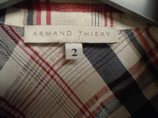 Chemise à carreaux femme , Armand Thiery , taille 2