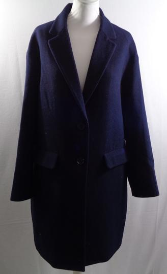 Manteau long bleu marine 36% laine - UNIQLO - Taille M sur Label ... 8663abcfb23d