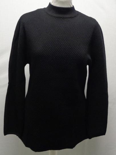 467a3756e9e Pull noir col rond mailles - FABRICE KAREL - Taille L sur Label ...