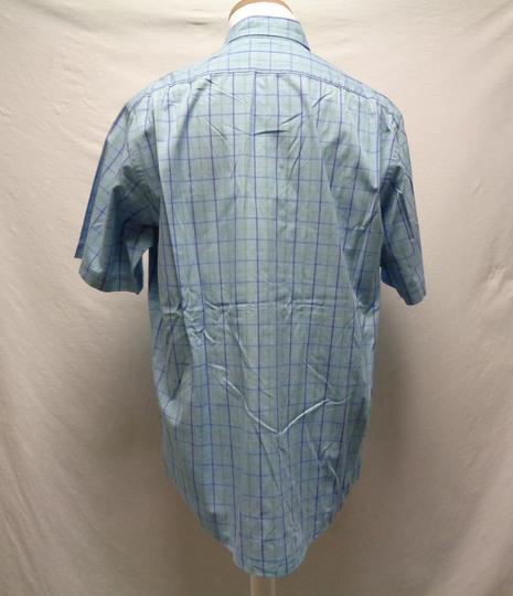 chemise bleu carreau yves saint laurent taille 40. Black Bedroom Furniture Sets. Home Design Ideas