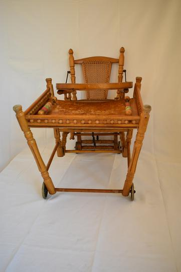 Chaise Haute Vintage En Bois Modulable