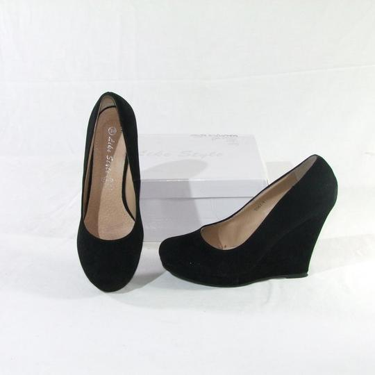 Chaussures en daimcompensée 39 noires taille IYWD9EH2