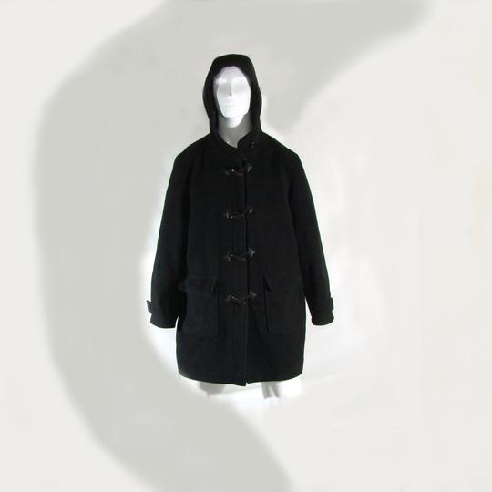 f46438126667 Manteau noir duffle-coat a capuche KIABI Taille 46 sur Label Emmaüs ...