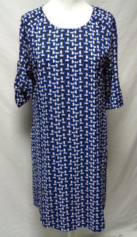 Robe Bleu A Motifs Blanc Et Noir Akoz Taille S Label Emmaus