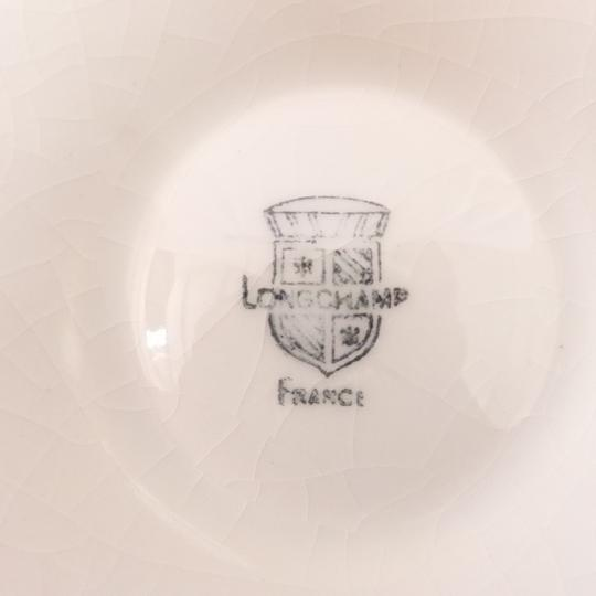 Lot de 10  assiettes en barbotine blanche motif coquille Saint-Jacques + 1 gratuite - Longchamp  - Photo 2