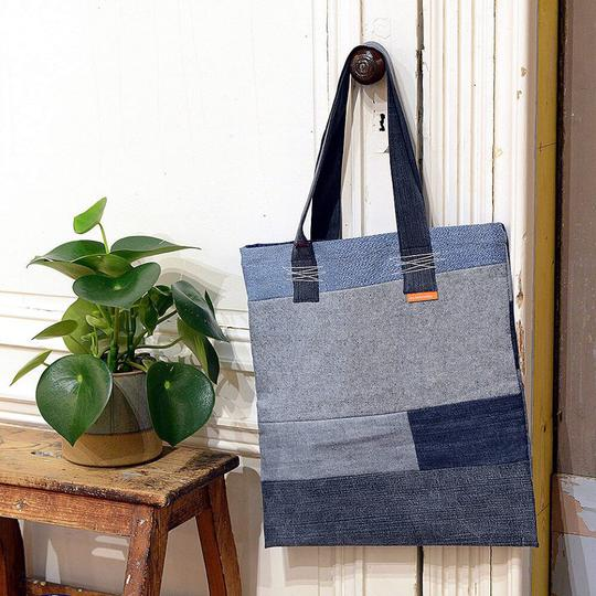 Tote bag 100% recyclé en jean - Photo 0