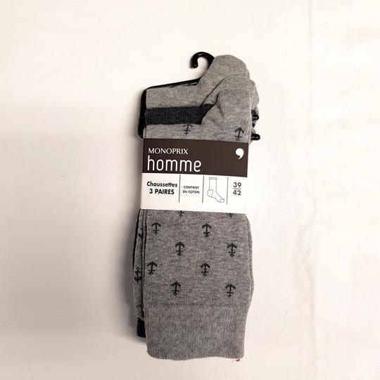 Paire de chaussettes homme Bleuforêt neuves 100% fil d