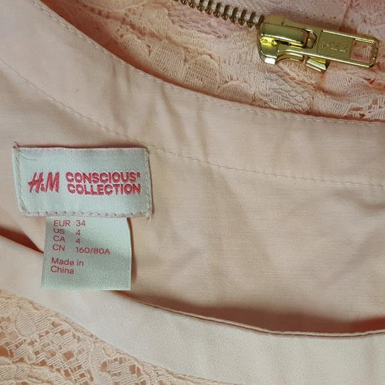 Robe dentelle rose pastel H&M Conscious Collection  T 34   - Photo 1