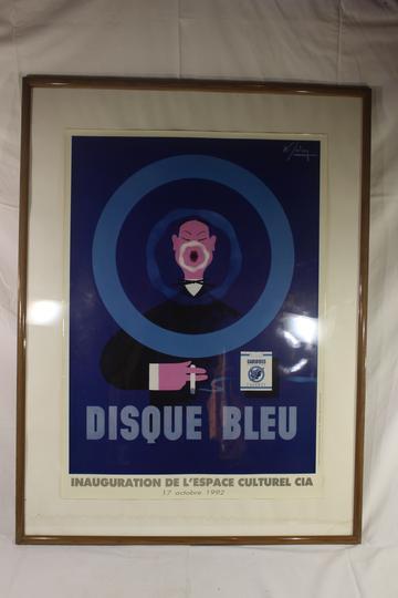 cadre pour affiche disque bleu gauloise sur label emma s boutique en ligne solidaire. Black Bedroom Furniture Sets. Home Design Ideas