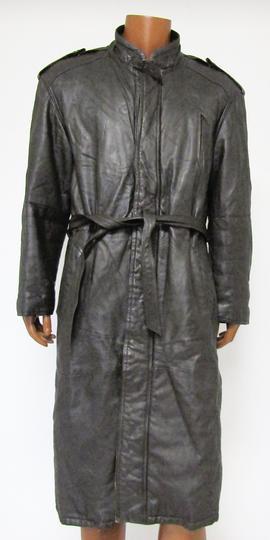 550e1dd33dda Imperméable en cuir chocolat T.52 sur Label Emmaüs, boutique en ...
