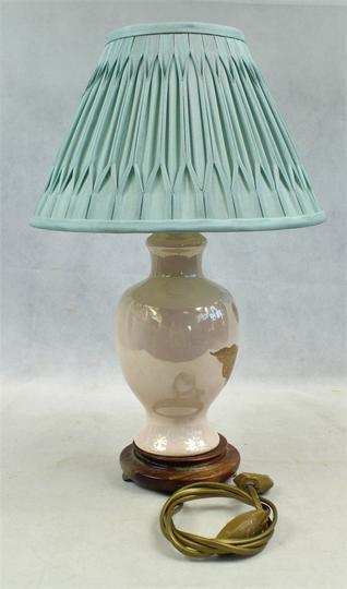 Art Déco Lampe En Céramique A Poser (Drimmer, France, Circa 1980 1990).