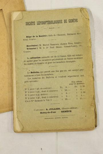 Guide du lépidopteriste de 1910 - Photo 3