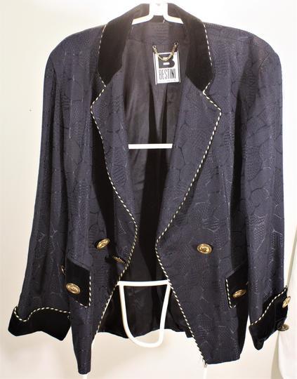 Superbe veste de soirée femme, noire de marque Bestini Paris, taille 42 44  ... 609f31cb210a