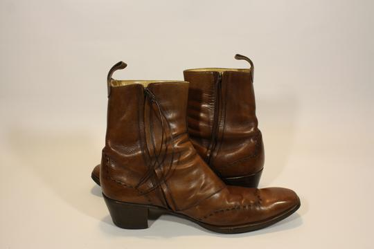 a9b63cbdcba47 Bottine homme Yves saint-Laurent cuir marron taille 45 sur Label ...