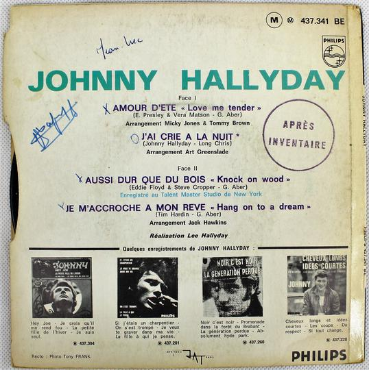 Johnny Hallyday ‎– Amour D'Ete (Philips / France, 1967). - Photo 1