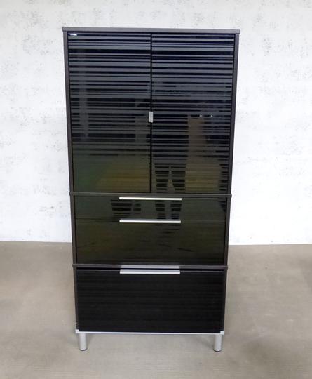Meuble Rangement Ikea En Melamine 85x42x175cm Noir Sur Label