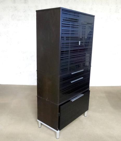 Meuble Rangement Ikea En Mélamine 85x42x175cm Noir