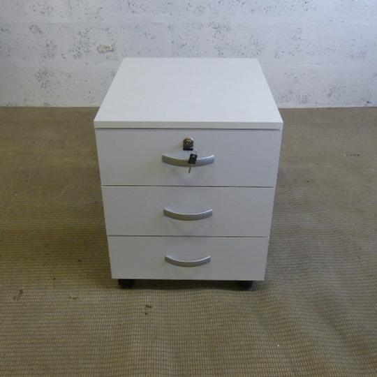 Caisson Ikea En Bois 50x42x52cm Blanc Et Gris Label Emmaus
