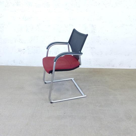 Noir De Métal Wilkhahn Et Bureau En Chaise 46x57x82cm Rouge NPvn0ym8wO