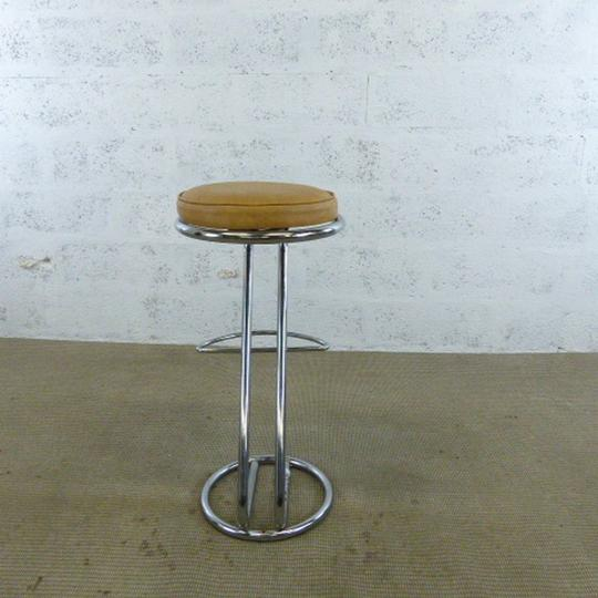 Tabouret haut    36x36x84cm - Marron - Photo 1