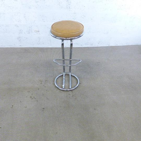 Tabouret haut    36x36x84cm - Marron - Photo 0