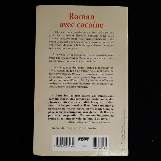 Livre Roman Avec Cocaine De M Agueev