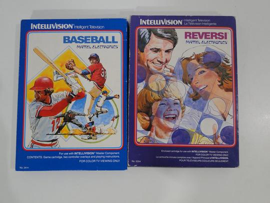 Lot de 2 Jeux vidéo Intellivision - Baseball et Reversi - Photo 0