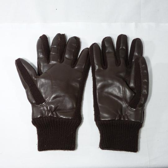 Gants en laine et simili cuir - Photo 0