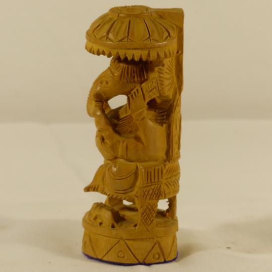 Figurine en bois sculpté style netsuke asiatique éléphant - Photo 2