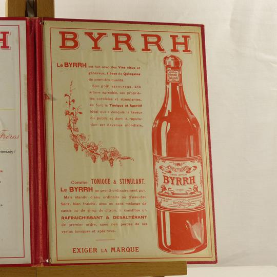 Ancien porte menu de restaurant publicitaire Byrrh  - Photo 2