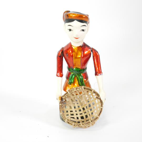 Lot de 3 figurines en bois chinois  - Photo 3